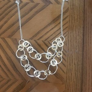 Silver and gold multi layer necklace